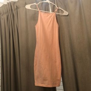 American apparel baby pink racer back strap dress
